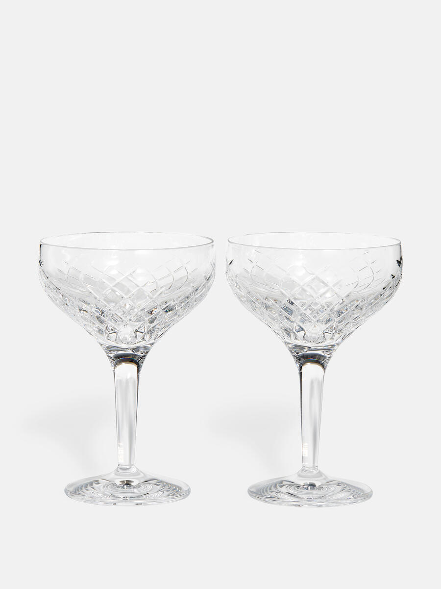 Set Of Two Barwell Cut Crystal Champagne Coupe Soho Home